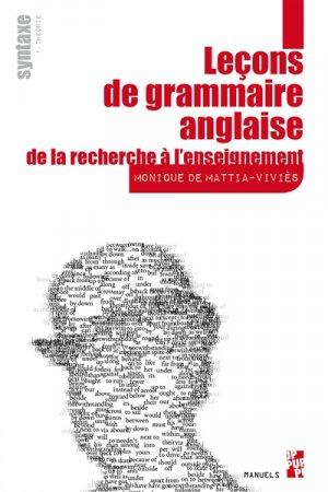 Leçons de grammaire anglaise : de la recherche à l'enseignement-publications de l'universite de provence-9791032001776