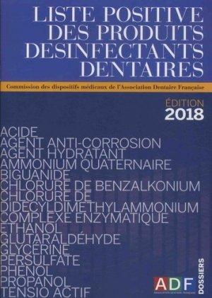 Liste positive des produits désinfectants dentaires (LPDD)-association dentaire francaise - adf-2225450616009