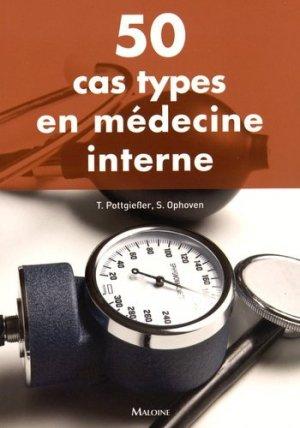50 cas types en médecine interne - maloine - 9782224034214