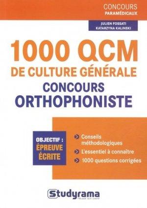 1000 QCM de culture générale-studyrama-9782759018390