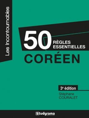 50 règles essentielles Coréen - studyrama - 9782759040148