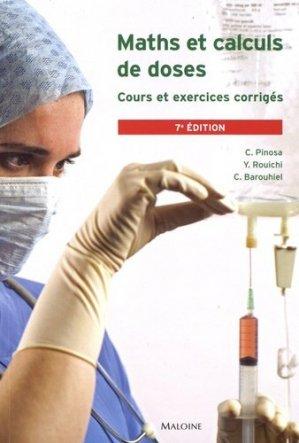 Maths et calculs de doses-maloine-9782224035129