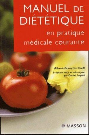 Manuel de diététique en pratique médicale courante-elsevier / masson-9782294013461