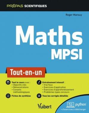 Mathématiques MPSI-vuibert-9782311406757
