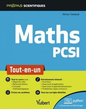 Mathématique PCSI-vuibert-9782311406771