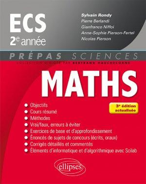 Mathematiques ECS 2e année-ellipses-9782340016477