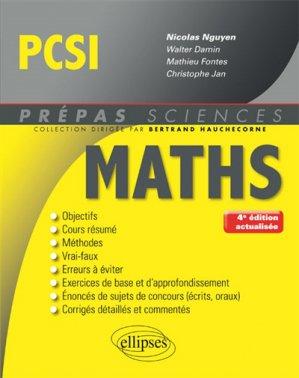 Mathématiques PCSI - ellipses - 9782340019270