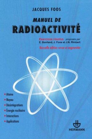 Manuel de radioactivité - hermann - 9782705682699