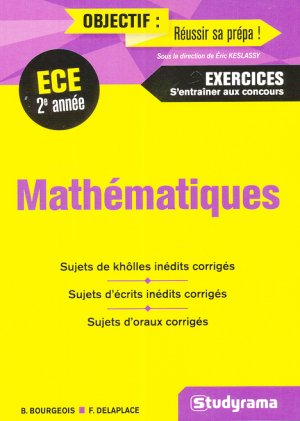Mathématiques - ECE 2e année-studyrama-9782759036493