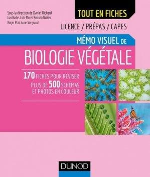 Mémo visuel de biologie végétale - Tome 1 - dunod - 9782100780280