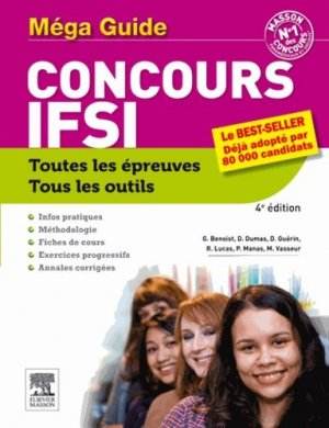 Méga guide Concours IFSI-elsevier / masson-9782294729881