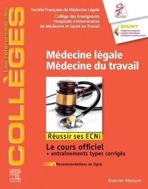 Médecine légale, médecine du travail-elsevier / masson-9782294764820