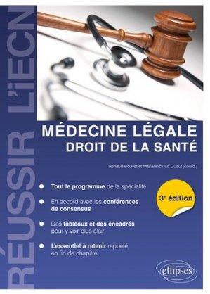 Médecine légale - Droit de la Santé-ellipses-9782340025080