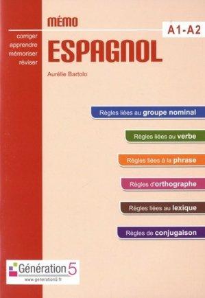 Mémo espagnol A1-A2-generation 5-9782362463198