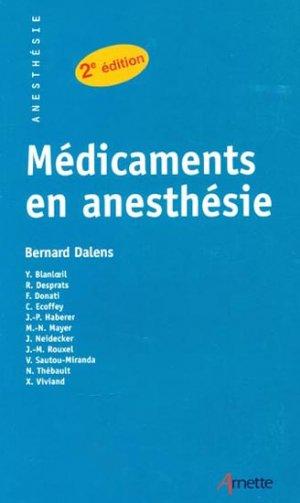 Médicaments en anesthésie - arnette - 9782718410326