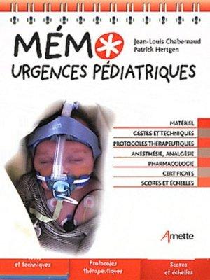 Mémo urgences pédiatriques - arnette - 9782718412351