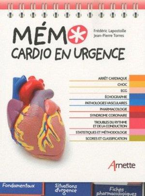 Mémo cardio en urgence - arnette - 9782718412474