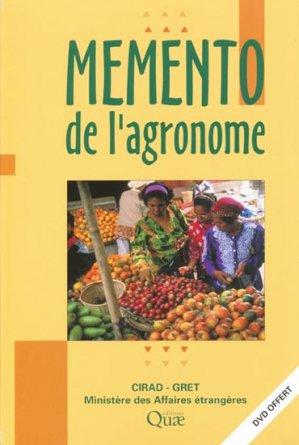 Mémento de l'agronome - quae  - 9782759203574