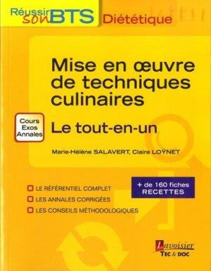 Mise en oeuvre des techniques culinaires-lavoisier / tec et doc-9782743020637