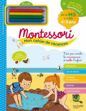 Mon cahier de vacances Montessori 4/5 ans-hachette-9782017016878