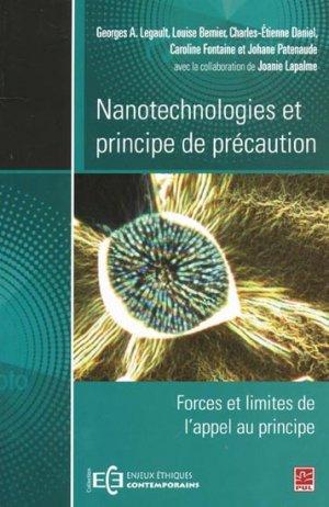 Nanotechnologies et principe de précaution-presses universitaires de laval-9782763797496