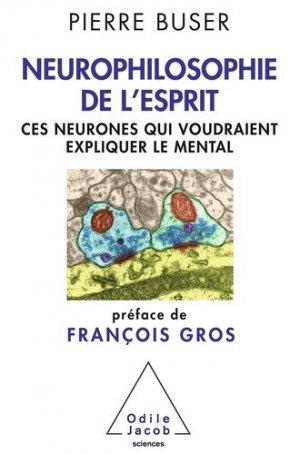 Neurophilosophie de l'esprit - odile jacob - 9782738129406