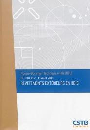 NF DTU 41.2 Revêtements extérieurs en bois - cstb  - 3260050850346