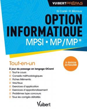 Option informatique MPSI - MP/MP*-vuibert-9782311406832