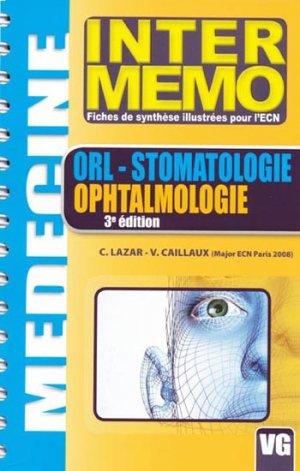 ORL -Stomatologie - Ophtalmologie - vernazobres grego - 9782841369799