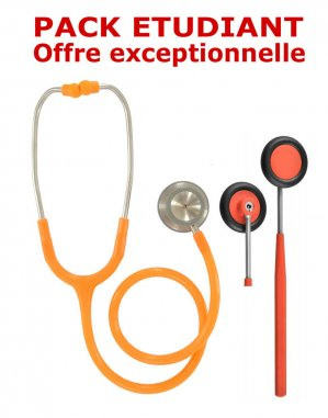 PACK ETUDIANT - Stéthoscope Magister + Marteau réflex Spengler ADULTE - ORANGE-spengler-2224428404778