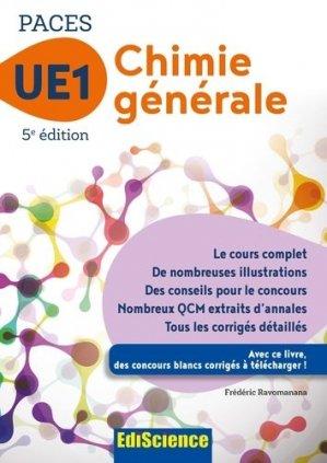 PACES UE1 Chimie générale - ediscience - 9782100763320