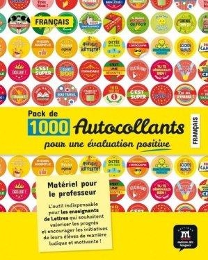 Pack d'autocollants pour l'évaluation en français - maison des langues - 9782356856562