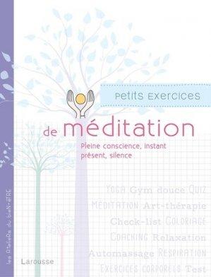 Petits exercices de méditation - larousse - 9782035905864