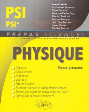 Physique PSI - PSI*-ellipses-9782340000278