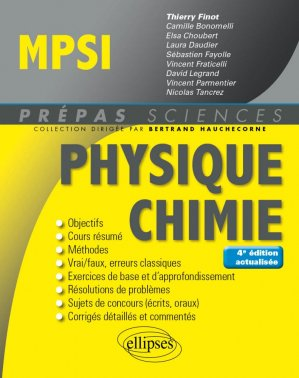 Physique-Chimie MPSI-ellipses-9782340023758