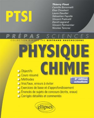 Physique chimie PTSI-ellipses-9782340026285
