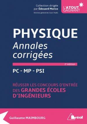 Physique annales corrigées - bréal - 9782749538945