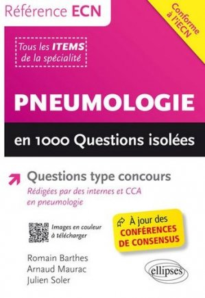 Pneumologie en 1000 Questions isolées-ellipses-9782340012417