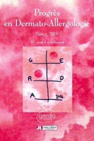 Progrès en Dermato-Allergologie - GERDA 2016-john libbey eurotext-9782742014897