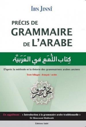 Précis de grammaire de l'arabe-sabil-9791094267189