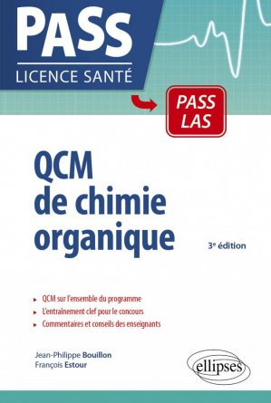 QCM de chimie organique UE1-UE spé pharma - ellipses - 9782340022447
