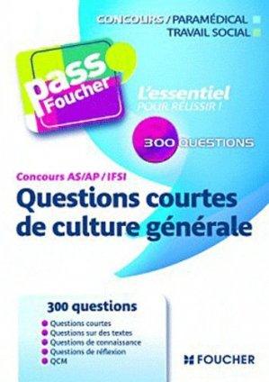 Questions courtes de culture générale - foucher - 9782216117147
