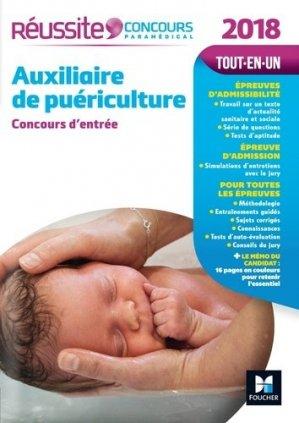 Réussite Concours Auxiliaire de puériculture - Concours d'entrée 2018 - foucher - 9782216145072