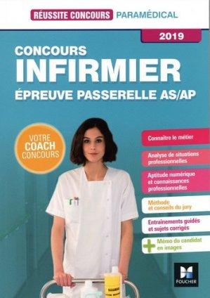 Réussite Concours - IFSI Passerelle AS/AP - Concours d'entrée 2019 - Préparation complète - foucher - 9782216149582