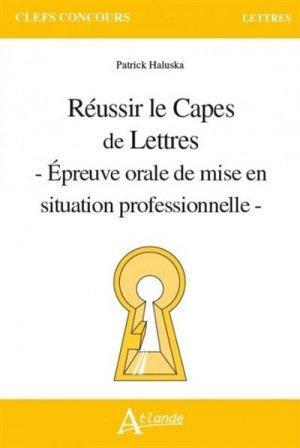 Réussir le CAPES de Lettres-atlande-9782350305462
