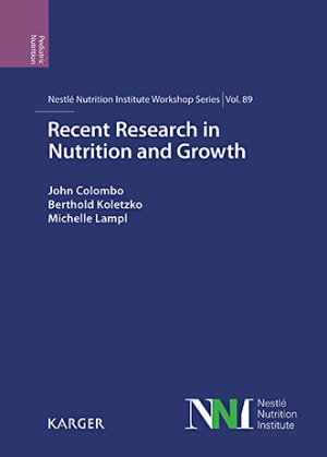 Recent Research in Nutrition and Growth-karger -9783318063516