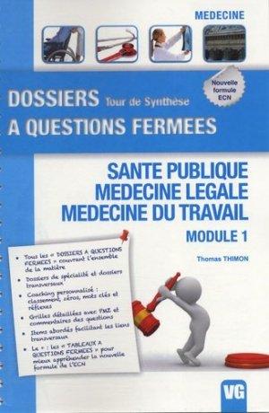 Santé publique - Médecine légale - médecine du travail - vernazobres grego - 9782818305539
