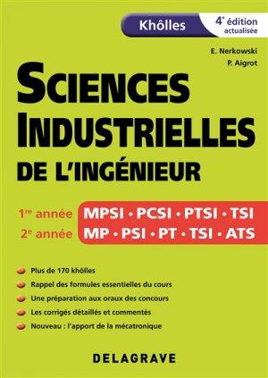 Sciences industrielles de l'ingénieur - delagrave - 9782206103426