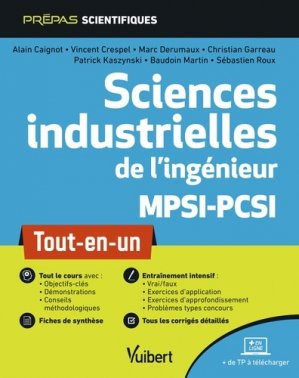 Sciences industrielles de l'ingénieur MPSI-PCSI - vuibert - 9782311406764