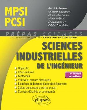 Sciences industrielles pour l'ingénieur MPSI-PCSI-ellipses-9782340023352